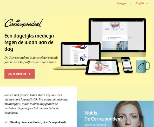 Dutch news start-up De-Correspondent