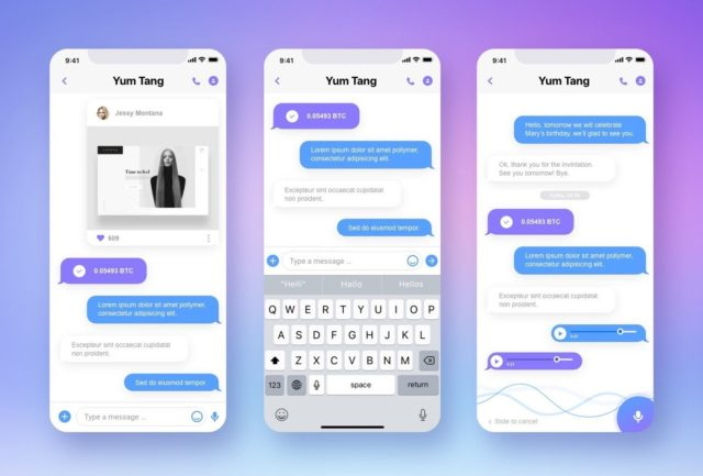 e-Chat app redesign