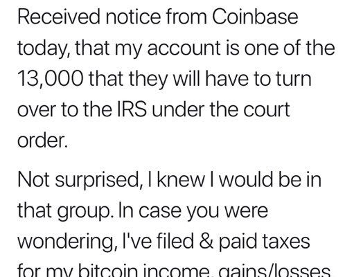 Coinbase Compelled by IRS to Provide 13,000 Customers' Information