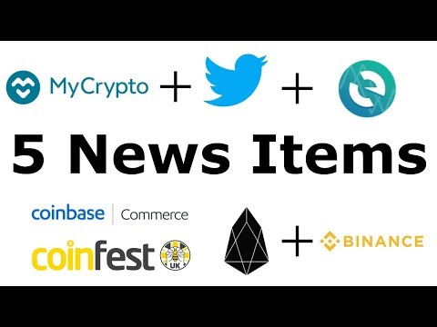 MyCrypto Gives Back MEW Twitter Account / Register EOS Tokens On Binance / Coinbase Commerce Launch