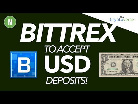 Bittrex To Accept USD 💰 Deposits! (Plus 5th Feb Market Analysis)