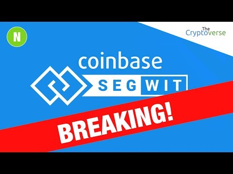 Coinbase Officially Launches SegWit Support For Bitcoin Transactions