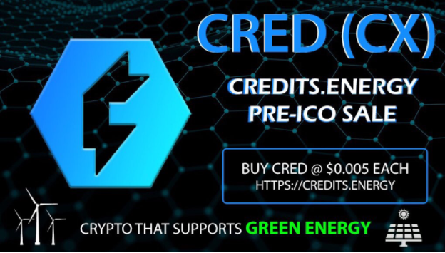 Credits.Energy – New Revolutionary Cryptocurrency with Mobile Mining App Aims to Support RENEWABLE Energy and SUSTAINABLE Projects