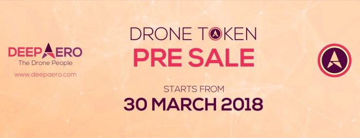 PR: DEEP AERO's Drone Token Pre-Sale Starts on 30 March, 2018