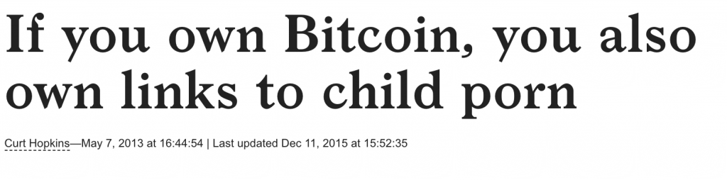 No, There Isn't Child Porn on the Bitcoin Blockchain