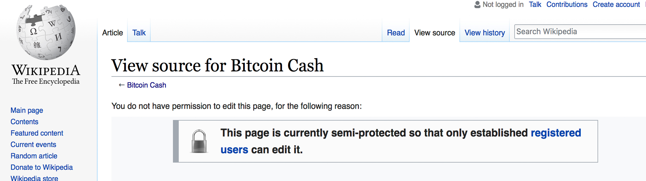 Bitcoin Cash Wiki Article Suffers From Edit Warring and Vandalism