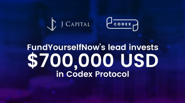 FundYourselfNow's lead invests $700,000 USD in Codex Protocol