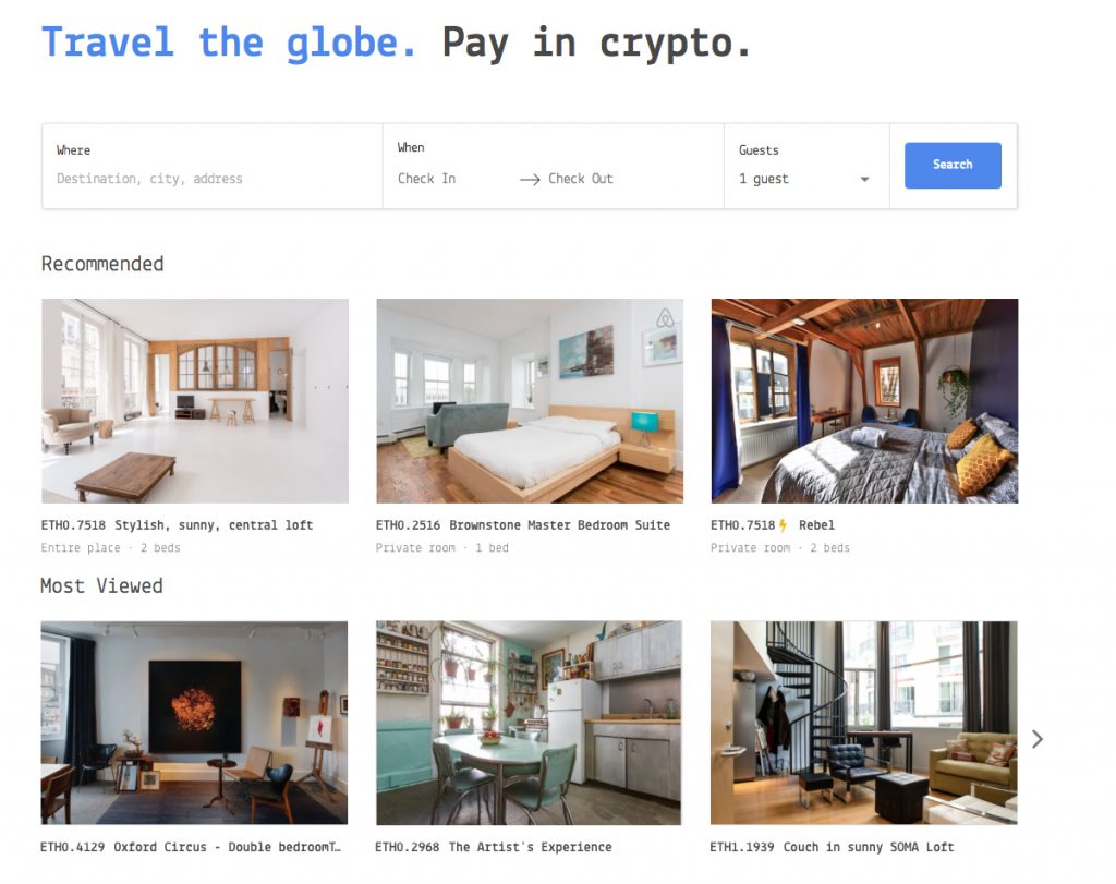 Meet Cryptocribs a Rental Service That Aims to Decentralize Airbnb