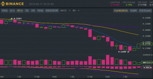 Cardano sees monthly and alltime low on Binance since it began trading in April 2018. Cardano is up 5.88% in 24 hours, down -14.29% on the week and down -37.93% on the month on a last price of $ 00.18 USDT.
