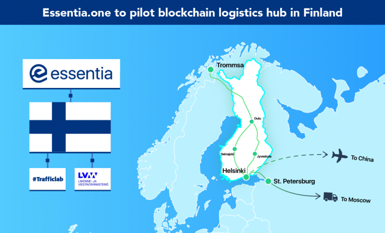 Finland Government and Essentia.One Reveal Plans for International Blockchain Logistics Hub
