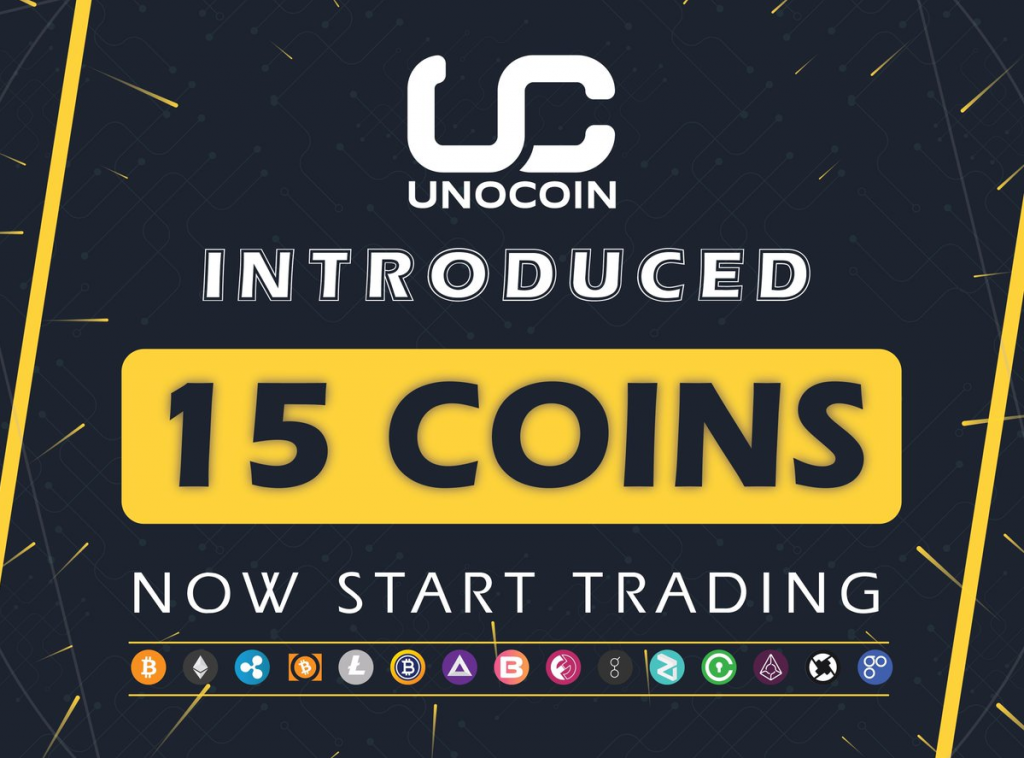 Unocoin、15 Cryptocurrenciesで新しい取引プラットフォームを開始