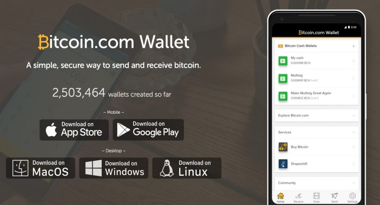 Bitcoin.com Celebrates 2.5 Million Wallets Created in Less Than a Year