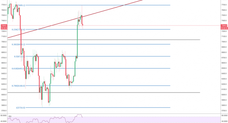 Bitcoin Price Watch: Currency Now at $7,400