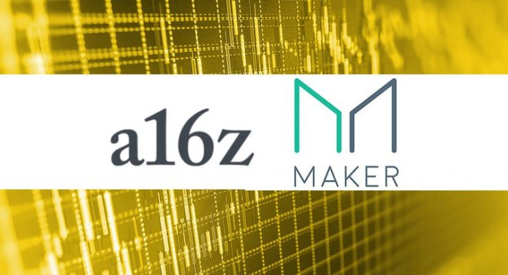 a16z Puts $15 Million Behind Stablecoin Platform MakerDAO