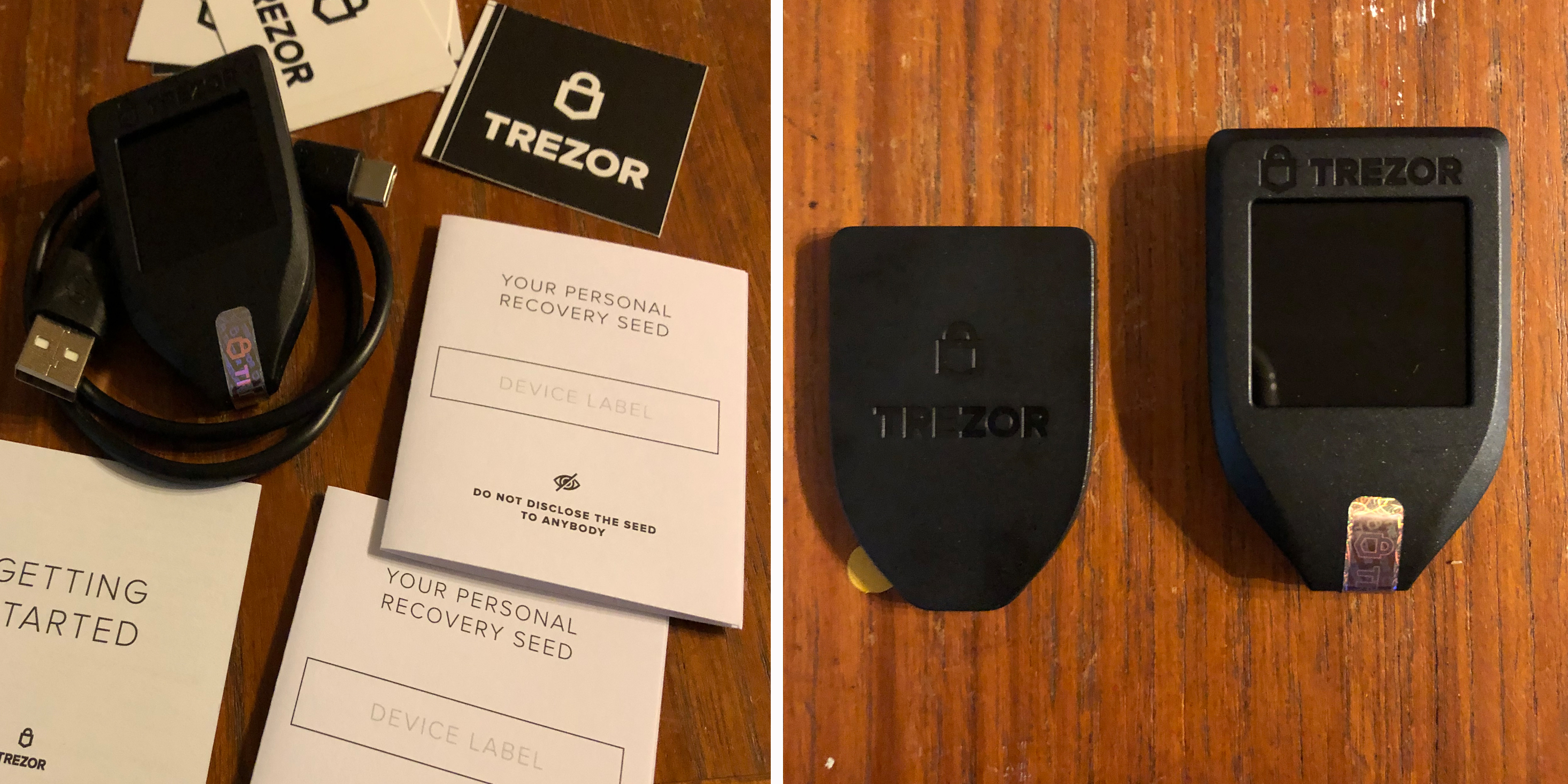 Trezor Model Tハードウェアウォレットの詳細