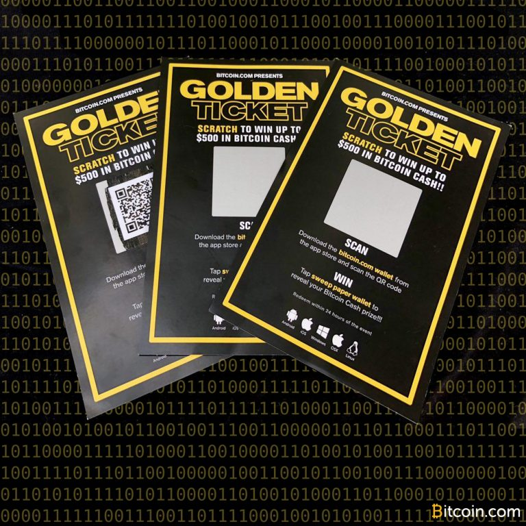 Host a BCH Giveaway With Bitcoin.com's Golden Ticket Software