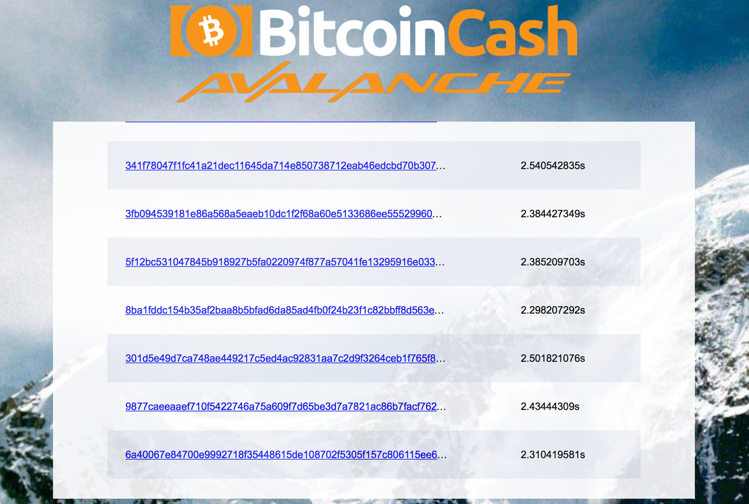 BCH Avalanche Transactions Show Finality Speeds 10x Faster Than Ethereum