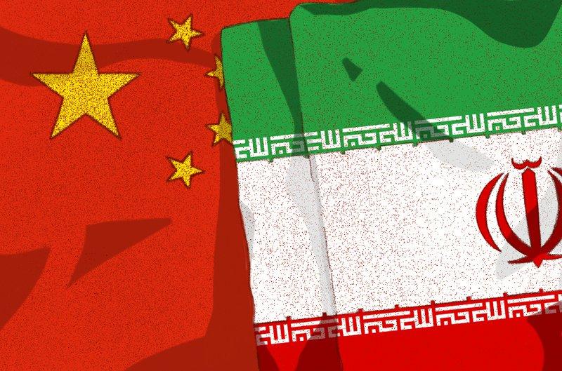 Iran China Flag