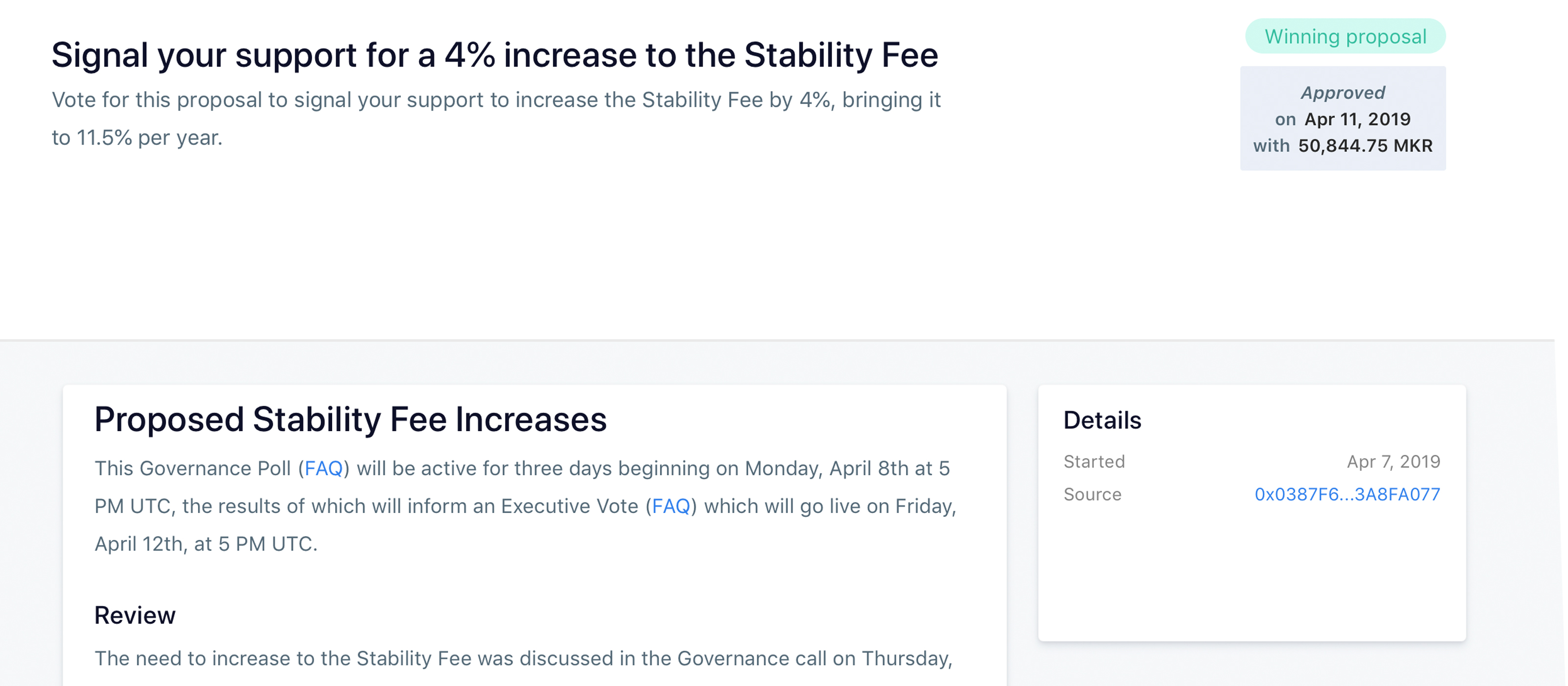 Maker Community Votes to Raise Stability Fee as Dai Struggles to Hold $ 1 Peg