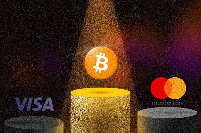 Bitcoin, Visa, MasterCard