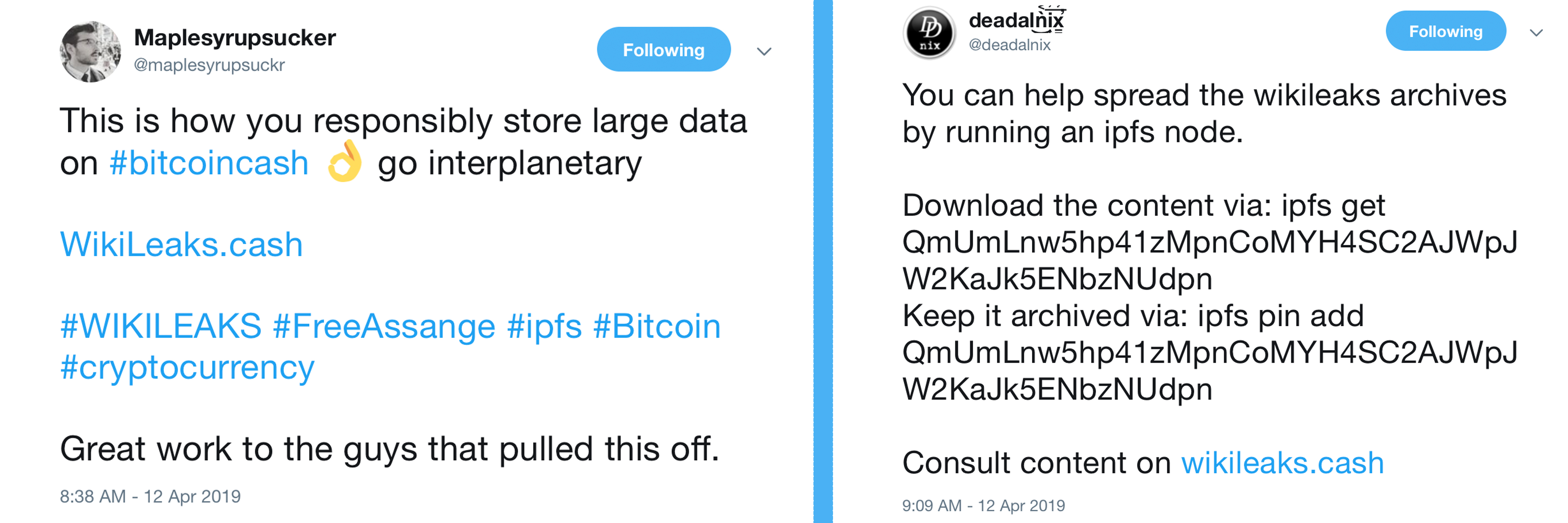 Wikileaks Cache Now Hosted on IPFS Thanks to this Bitcoin Cash Developer