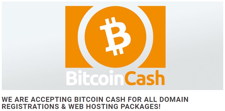 You Can Pay With BCH for Your Domain From Abaco Hosting