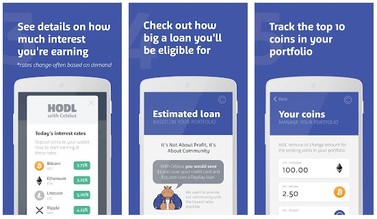 Celsius Wallet App Offers Interest and Loans for Your Cryptocurrency
