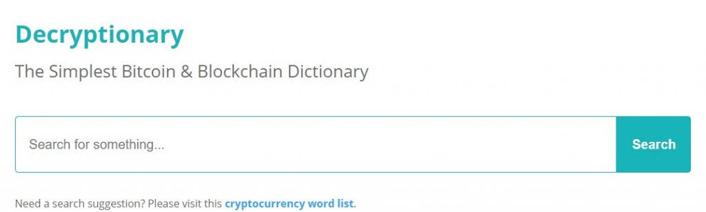 Decryptionary Helps New Investors Understand Crypto Terms